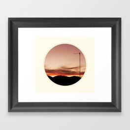 Spoiled sunset Framed Art Print