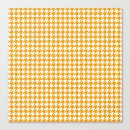 Friendly Houndstooth Pattern, orange Canvas Print