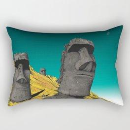 Easter Island 2 Rectangular Pillow