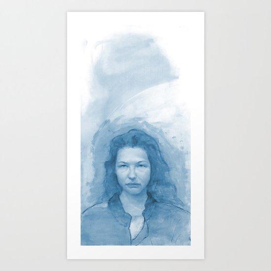 Peggy is Water Digital Color Art Print