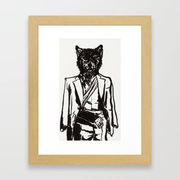 True Nature: Wounded Wolf Framed Art Print