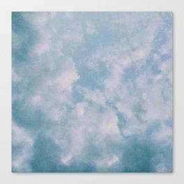 Fluffy Blue Clouds Canvas Print
