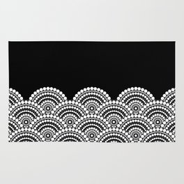 BLACK AND WHITE (abstract pattern) Rug