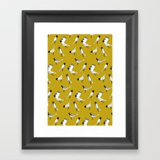 Bird Print - Mustard Yellow Framed Art Print