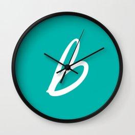 Recettes du Bonheur - Bleu Wall Clock