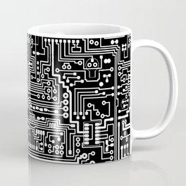 Circuit Board on Black Coffee Mug