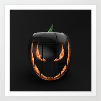 pumpkin Art Prints featuring pumpkin by Duitk