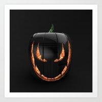 pumpkin Art Prints featuring pumpkin by Duitk