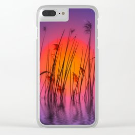 Sunset 58 Clear iPhone Case