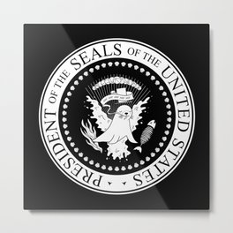 President of the Seals of the United States Metal Print