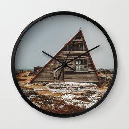 Icelandic Asymmetrical A-Frame Cabin Wall Clock