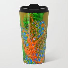 ABSTRACT TROPICAL PINEAPPLES  ART DESIGN Travel Mug