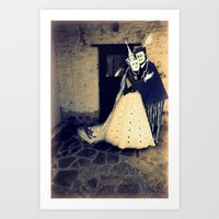 wedding Art Prints featuring wedding by Bunny Noir