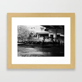 bunk at night Framed Art Print
