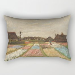 Classic Art - Flower Beds in Holland - Vincent van Gogh Rectangular Pillow