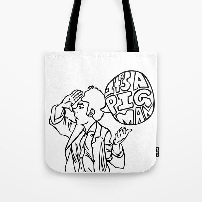 Pig Man Tote Bag