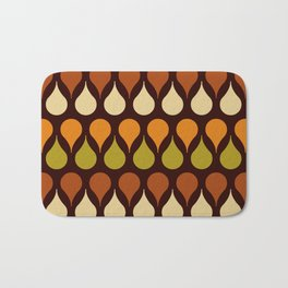 Brown retro 60s color drop pattern Bath Mat