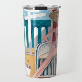 Summer Beach Time Travel Mug