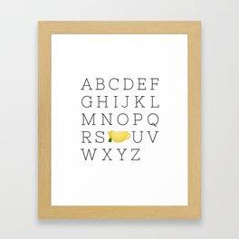 Alphabet Tea Framed Art Print