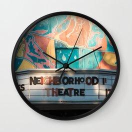 NEIGHBORHOOD THEATRE Wall Clock