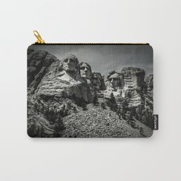 Mount Rushmore in Black and White Carry-All Pouch