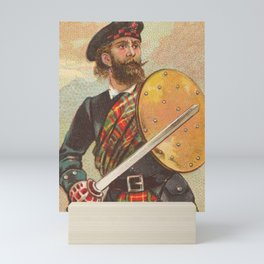 Vintage Scottish Warrior Illustration (1887) Mini Art Print