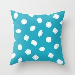 Blue Moissy Gem Pattern Throw Pillow