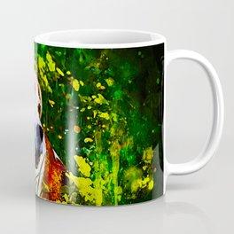 beagle dog flower field splatter watercolor Coffee Mug