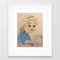 frozen elsa Framed Art Prints featuring Elsa - Frozen by disney_dreamerz_