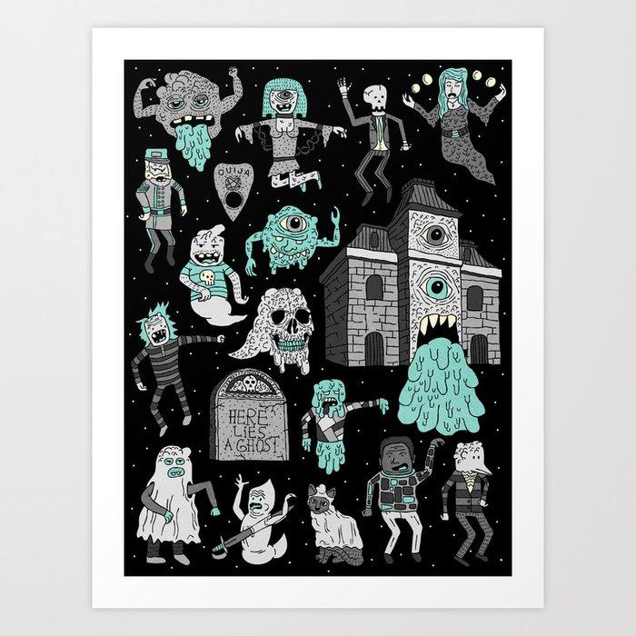 Wow! Ghosts!  Art Print