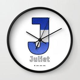 Juliet - Navy Code Wall Clock