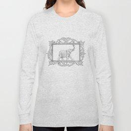 grey frame with elephant Long Sleeve T-shirt