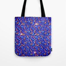 Blue Sub-atomic Lattice Tote Bag
