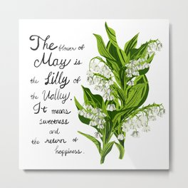 Lili of The Valley - Birth Month Flower for May Metal Print