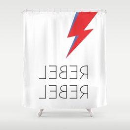 Rebel Rebel Rock Shower Curtain