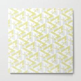 Triangle Optical Illusion Lemon Light Metal Print