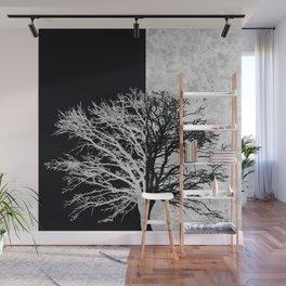 Natural Outlines - Oak Tree Black & Concrete #402 Wall Mural