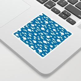 submarin fish in blue Sticker