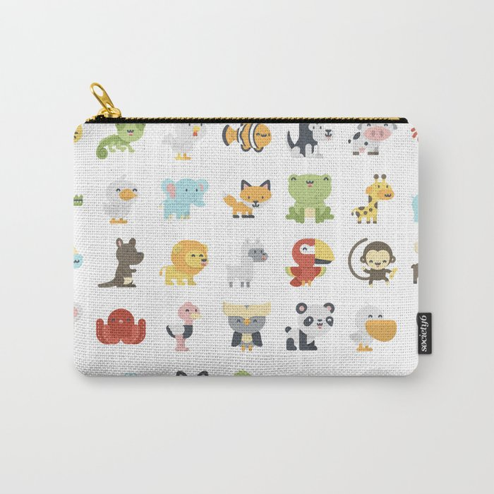 CUTE BABY ANIMAL PATTERN Carry-All Pouch