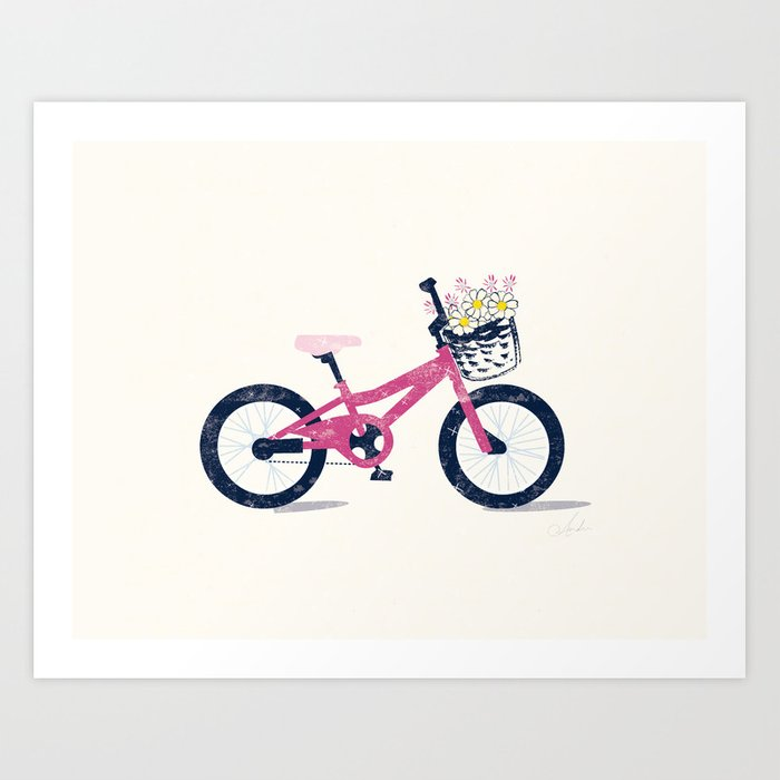 Summer Bike Ride Art Print
