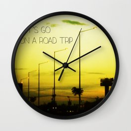 Lets go on a Road Trip Wall Clock