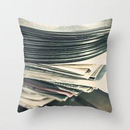 Vintage Vinyl Records 4 Throw Pillow