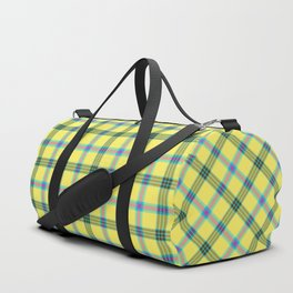 lemon love plaid with a dash of pink and blue Duffle Bag