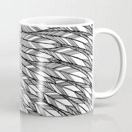 Black & White Feathers Coffee Mug