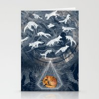 spiritual Stationery Cards featuring GHOSTS  by Sandra Dieckmann