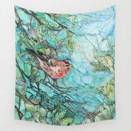 The Aquamarine Labyrinth (detail no. 1) Wall Tapestry