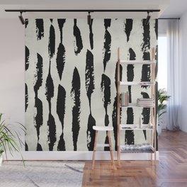 Tribal Paint Stripes Wall Mural
