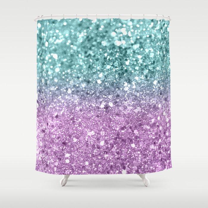 Mermaid Girls Glitter #6 #shiny #decor #art #society6 Shower Curtain