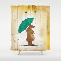 wildlife Shower Curtains featuring Wildlife by AhaC