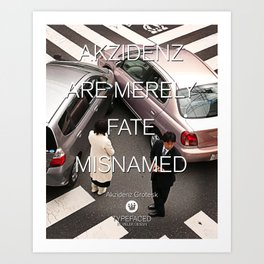 Typefaced — Akzidenz Grotesk Art Print